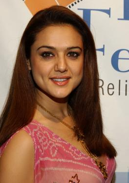 Preity Zinta at the opening night of the Bollywood Film Festival.