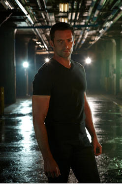 "Hugh Jackman as Charlie Kenton in ""Real Steel."""
