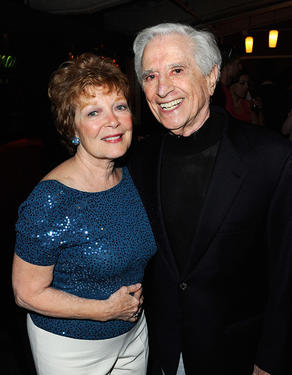 "Anita Gillette and writer Luigi Creatore at the opening night party of ""An Error Of The Moon"" in New York."