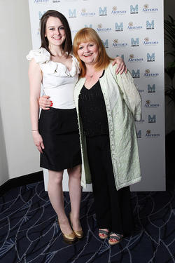 Sophie Mcshera and Lesley Nicol at the Evening with Downton Abbey for Raising Money for Merlin The Medical Relief Charity in London.