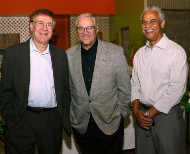 "Steve Landesberg, Hal Linden and Ron Glass at the ""Barney Miller"" television show reunion."