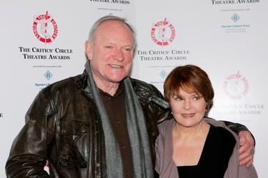 Julian Glover and Isla Blair at the Critics' Circle Theatre Awards at the Prince of Wales Theatre.