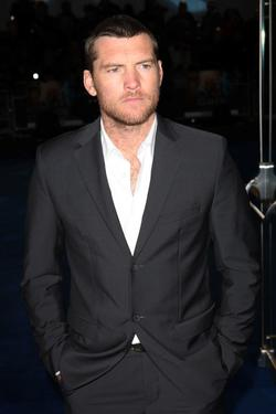 "Sam Worthington at the London premiere of ""Avatar."""