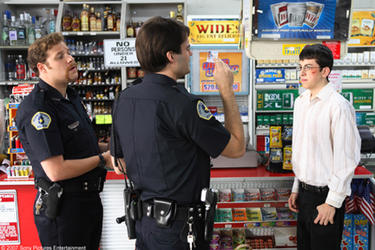 "Seth Rogen, Bill Hader and Christopher Mintz-Plasse in ""Superbad."""