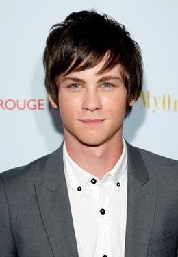 "Logan Lerman at the New York premiere of ""My One And Only."""