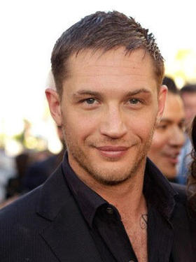 "Tom Hardy at the L.A. premiere of ""Inception."""