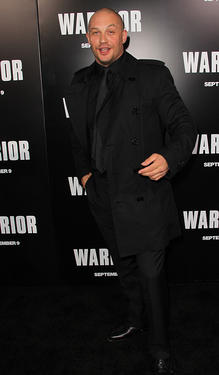 "Tom Hardy at the California premiere of ""Warrior."""