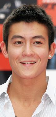 "Edison Chen at the press conference to promote ""Initial D."""