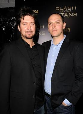 "Aaron Sims and Louis Leterrier at the premiere of ""Clash of the Titans."""