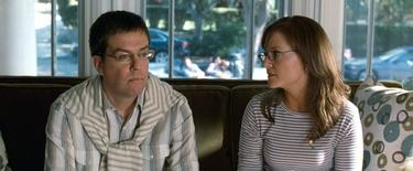 "Ed Helms as Stu and Rachael Harris as Melissa in ""The Hangover."""