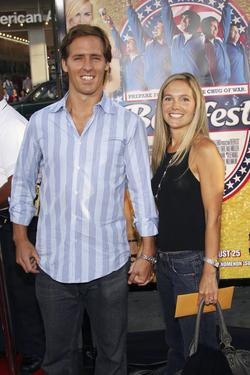 "Nat Faxon and Guest at the premiere of ""Beerfest."""