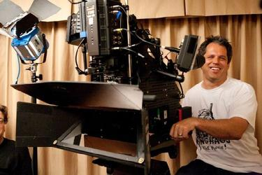 "Director/producer Jeff Tremaine on the set of ""Jackass 3D."""