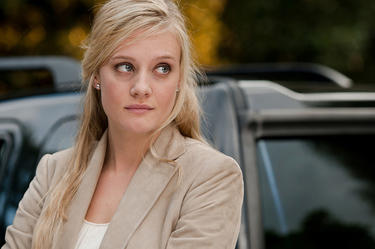 "Romola Garai as Silvie in ""One Day."""