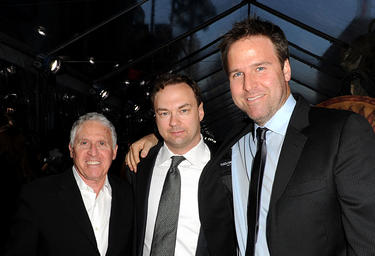 "Dan Fellman, executive producer Thomas Tull and Basil Iwanyk at the premiere of ""Clash Of The Titans."""