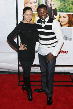 "Derek Luke at the N.Y. premiere of ""Definitely, Maybe."""