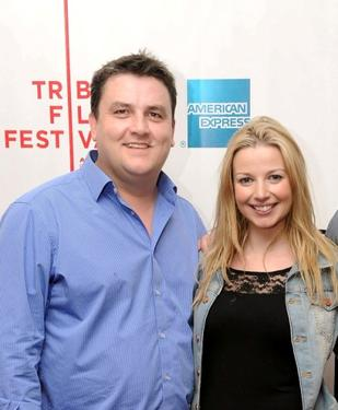 "Simon Delaney and Janice Byrne at the premiere of ""Zonad"" during the 2010 Tribeca Film Festival."