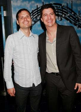 "Michael Ian Black and Ken Marino at the after party of the premiere of ""The Ten."""