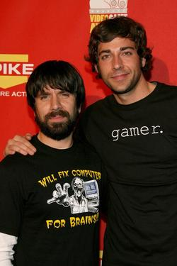 "Joshua Gomez and Zachary Levi at the Spike TV's 2007 ""Video Game Awards."""