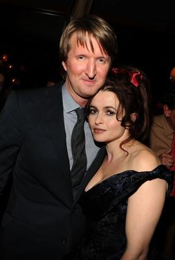 "Tom Hooper and Helena Bonham Carter at the after party for ""The King's Speech."""