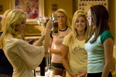 "Sara Paxton and Amanda Bynes in ""Sydney White."""