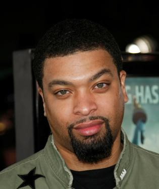 "DeRay Davis at the Los Angeles premiere of ""Cloverfield."""