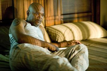 "Samuel L. Jackson as Abel Turner in ""Lakeview Terrace."""