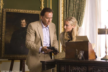 "Nicolas Cage and Diane Kruger in ""National Treasure: Book of Secrets."""