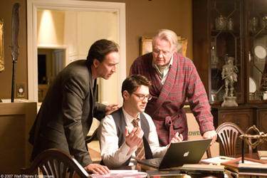 "Nicolas Cage, Justin Bartha and Jon Voight in ""National Treasure: Book of Secrets."""