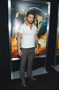 "Jason Momoa at the New York premiere of ""Bullet To The Head."""