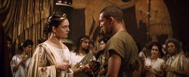 "Alexa Davalos as Andromeda and Sam Worthington as Perseus in ""Clash of the Titans."""