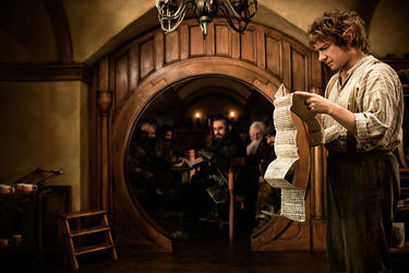 "Martin Freeman as Bilbo Baggins in ""The Hobbit: An Unexpected Journey."""