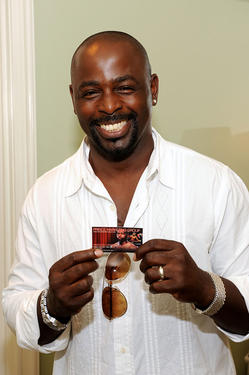 Alimi Ballard at the DPA pre-Emmy Gift Lounge in California.