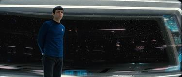 "Zachary Quinto as Spock in ""Star Trek."""