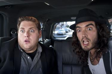 "Jonah Hill and Russell Brand in ""Get Him to the Greek."""