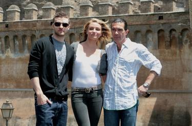 "Antonio Banderas, Justin Timberlake and Cameron Diaz at the ""Shrek The Third"" photocall."