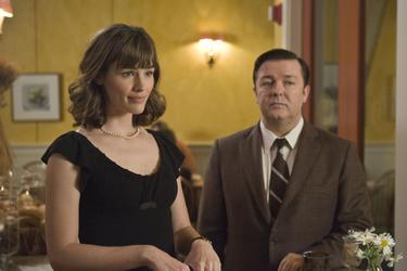 "Jennifer Garner as Anna and Ricky Gervais as Mark in ""The Invention of Lying."""