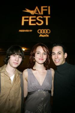 "John Patrick Amedori, Erica Leerhsen and Jonathan Dankner at the screening of ""Little Athens"" during the AFI Fest."