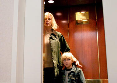 "Nicole Kidman and Jackson Bond in ""The Invasion."""