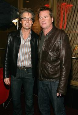 "Val Kilmer and Kyle MacLachlan at the special screening of ""The Doors"" 15th Anniversay Celebration."
