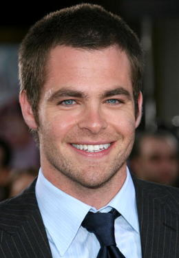 "Chris Pine at the ""Just My Luck"" premiere."