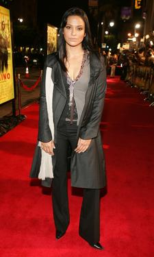 "Navi Rawat at the premiere of ""Domino."""