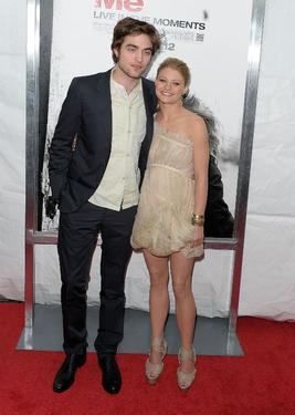 "Robert Pattinson and Emilie de Ravin at the New York premiere of ""Remember Me."""