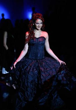 Esha Deol at the Wills India Fashion Week.