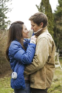 "Evangeline Lilly and Jeremy Renner in ""The Hurt Locker."""