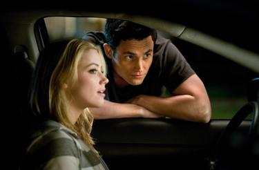 "Amber Heard and Penn Badgley in ""The Stepfather."""