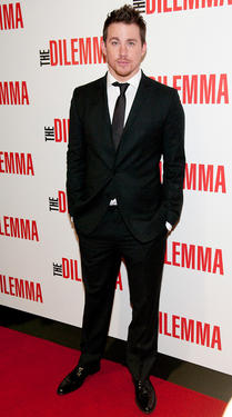 "Channing Tatum at the Illinois premiere of ""The Dilemma."""
