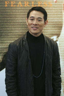 "Jet Li at a Hong Kong news conference for ""Fearless."""