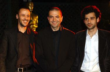 Suliman, Director Hany Abu-Assad and Kais Nashef at the Academy of Motion Picture Arts & Science.
