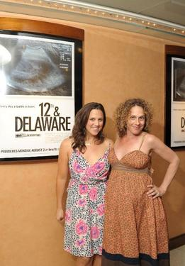 "Heidi Ewing and director Rachel Grady at the screening of ""12th & Delaware."""