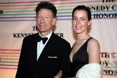 Lyle Lovett and girlfriend April Kimble at the 30th Annual Kennedy Center Honors.